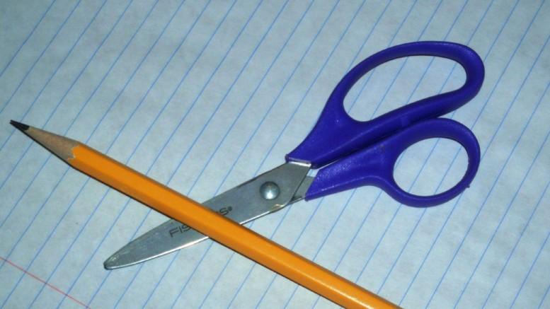 Penna och sax