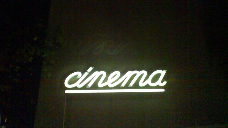 En biografskylt