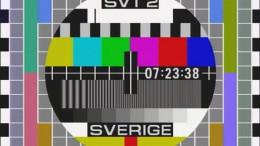 En gammal testbild från TV