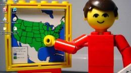 En lärare i lego
