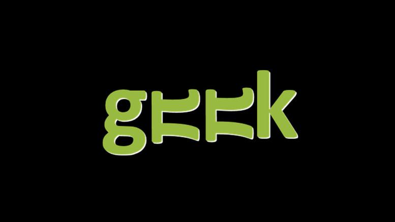 """texten """"geek"""""""