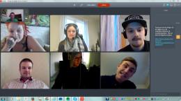 Skärmdump från ett videomöte