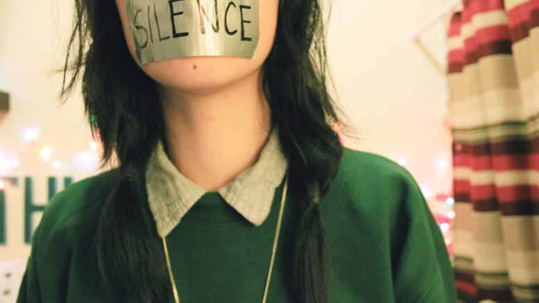 En tystad mun